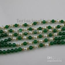 green pearls necklace images Charming 6rows aa 6 7mm round shaper green jade pearl necklace jpg