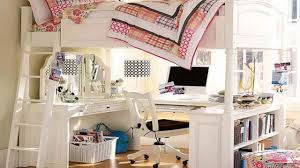 girls loft bed with desk youtube