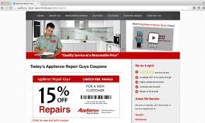 Kitchener Web Design Web Design Portfolio By Kitcheners Top Web Developers Appliance