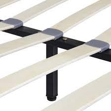 Platform King Bed Frames Upholstered Platform King Bed Frame W Headboard Wooden Slats