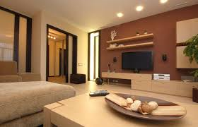 brown fabric sofa plus cream wooden table bined with long brown