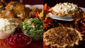 thanksgiving dinner menu piato