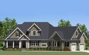 craftsman farmhouse handsome craftsman home with angled garage 46224la