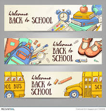 sketch banner template with object illustration 73003336