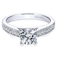 what is milgrain gabriel er358 tess engagement ring freedman jewelers boston