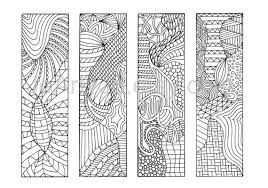 coloring bookmarks print 12 zentangle inspired printable