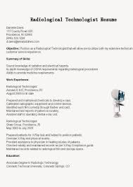 radiologic technologist resume skills tech resume template