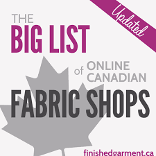 the big list of canadian online fabric shops the finished garment
