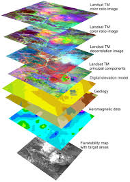 gis maps gis analyses and favorability mapping of optimized satellite data