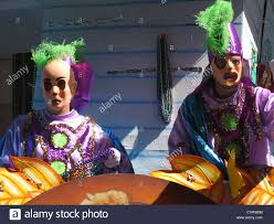 new orleans costumes in costumes and masks on a float mardi gras festival new
