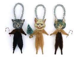 bobble kitten ornaments cat tree ornaments