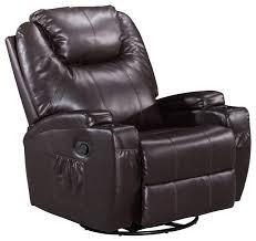 Rocker Recliner Chairs Massage Swivel Rocker Recliner Chair Bonded Leather