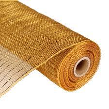 deco poly mesh gold browth gold foil metallic 10 ribbon