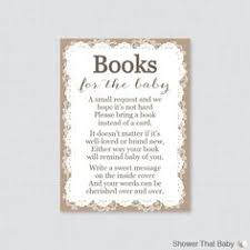 bring a book instead of a card baby shower want to start your baby out early with the books let your guests