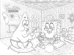 100 coloring pages spongebob glum me free printable images