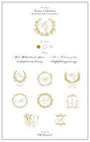 Monogram Wedding Invitations Custom Crest Monogram Wedding Logo Wedding By Cwdesigns2010
