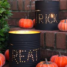 Home Made Halloween Decoration by 100 Halloween Tin Cans 20 Creative Repurposed Diy Tin Cans