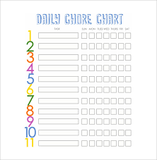 Chore Sheet Template Chore List Template Best 25 Free Printable Chore Charts Ideas