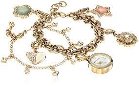 anne klein charm bracelet watches images Lyst anne klein ak 3044chst swarovski crystal accented gold tone jpeg