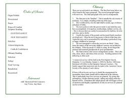 Program For Funeral Service Blank Funeral Program Template With Order Of Service And Poem