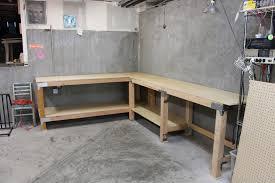 Plans For A Garage Garage Workbench Layout Construction 130 Corner Garage Workbench