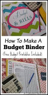 how to make a budget binder