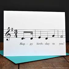 happy birthday singing cards happy birthday song note card unique musician birthday