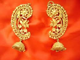 kaan earrings 10 traditional gold bengali jewellery