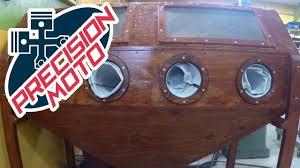 Homemade Blast Cabinet Diy Sandblasting Cabinet Pt2 Youtube