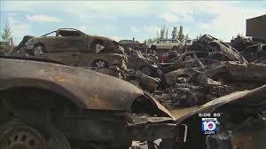 car junkyard miami fl more than 100 vehicles scorched in opa locka junkyard fire
