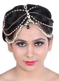 designer hair accessories sannam chopra umrao pearl hair chain shop pieces at