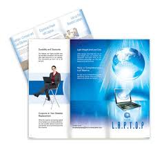 laptop brochure template designs