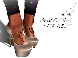 second life marketplace horns u0026 halos heart u0026 stars foot tattoo