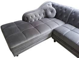 canapé angle velours canapé d angle gauche empire velours argent style chesterfield