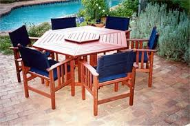 hexagon patio table and chairs hermitage hexagonal table timber outdoor furniture perth