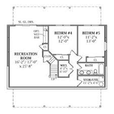 walk out basement floor plans mystic retirement house plan ranch floor plan basement