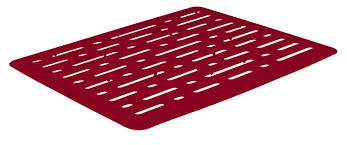 Rubbermaid Sink Mats Large by Amazon Com Rubbermaid Antimicrobial Sink Mat Small Red Lines