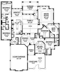 Luxury Ranch Floor Plans by Plan 36226tx One Story Luxury With Bonus Room Above Ranch House