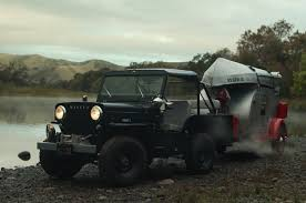 camping jeep wrangler camping with this 1953 jeep cj 3b is an escape from the beaten