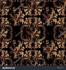 black leaf vintage abstract floral seamless leaves wallpaper dark