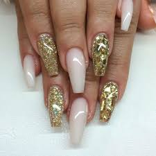 gold glitter u0026 frosted pink nails art mania