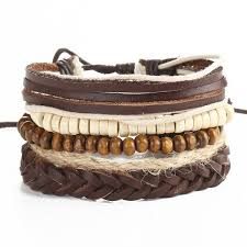 multi leather bracelet images Multi layer bead leather bracelet for men and women necklace for her jpg