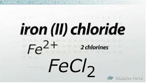 naming ionic compounds simple binary transition metal