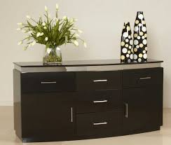 Black Gloss Buffet Sideboard Dining Room Buffet Sideboard With Dark Color Ideas Home Interior