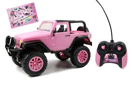 wrangler jeep pink amazon com jada toys girlmazing big foot jeep r c vehicle 1 16