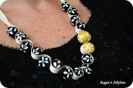 ribbon necklace making images Buggie and jellybean ribbon and bead necklace diy jpg