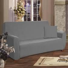 grey twill sofa slipcover elegant comfort box cushion sofa slipcover reviews wayfair
