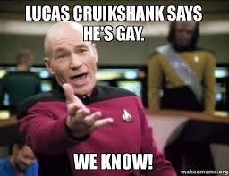 Lucas Meme - lucas cruikshank says he s gay we know make a meme