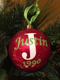 personalized clear ornament by artsywallsandmore