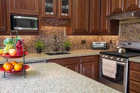 Ceramic Tile Backsplash by Granite Countertop Paint And Glaze Kitchen Cabinets Ceramic Tile
